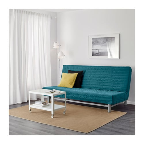 beddinge l v s three seat sofa bed knisa turquoise ikea. Black Bedroom Furniture Sets. Home Design Ideas