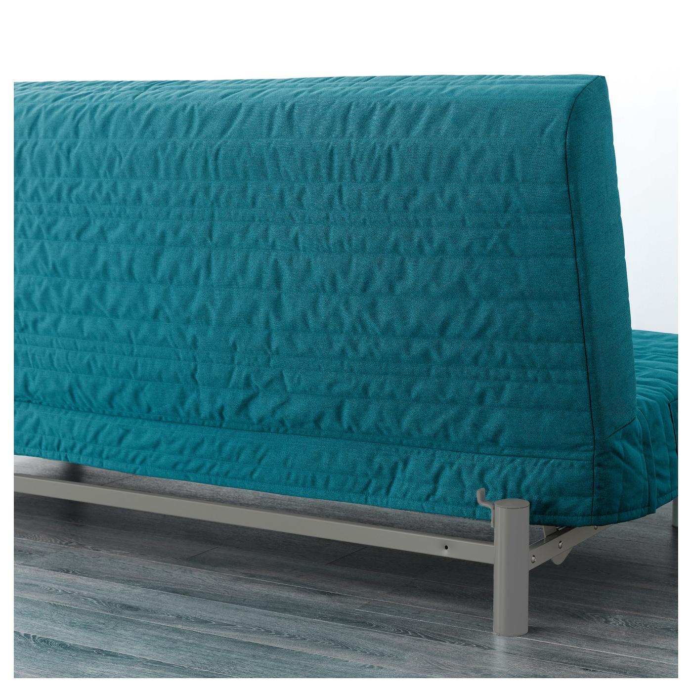 beddinge l v s three seat sofa bed knisa turquoise ikea. Black Bedroom Furniture Sets. Home Design Ideas