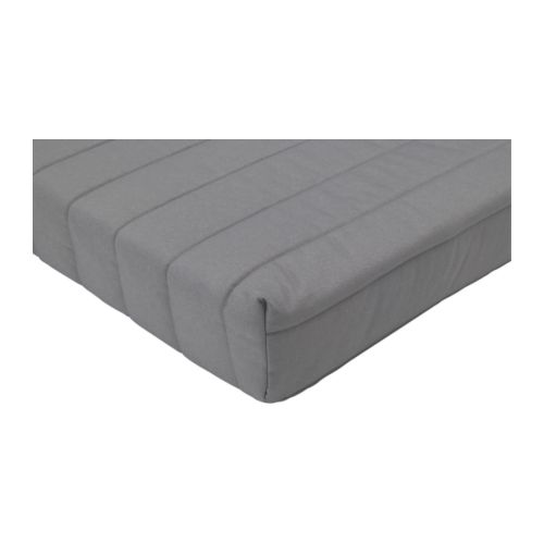 BEDDINGE LÖVÅS Mattress IKEA A simple, firm foam mattress for use every night.  Easy to keep clean; removable and dry-cleanable mattress cover.