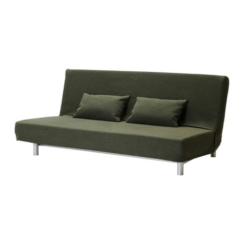BEDDINGE MURBO Three-seat sofa-bed IKEA Extra covers are available for variation and renewal.  Readily converts into a bed big enough for two.
