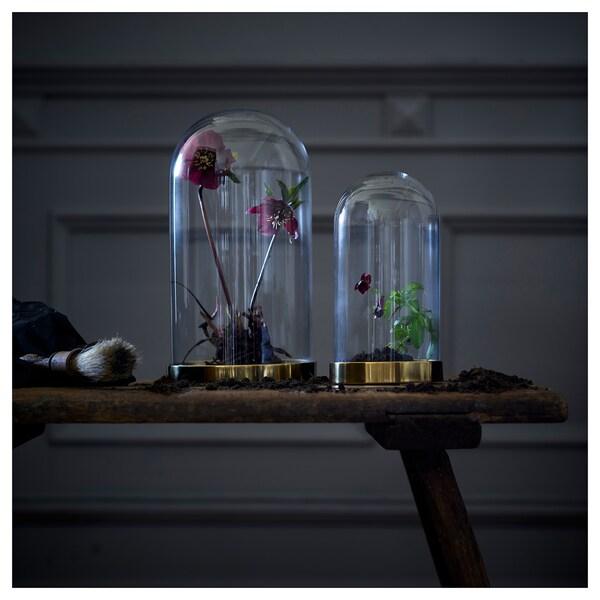 IKEA BEGÅVNING Glass dome with base