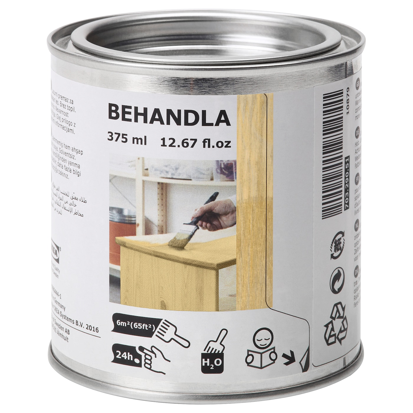 IKEA BEHANDLA beeswax polish Makes the surface of untreated wood more durable and hard-wearing.
