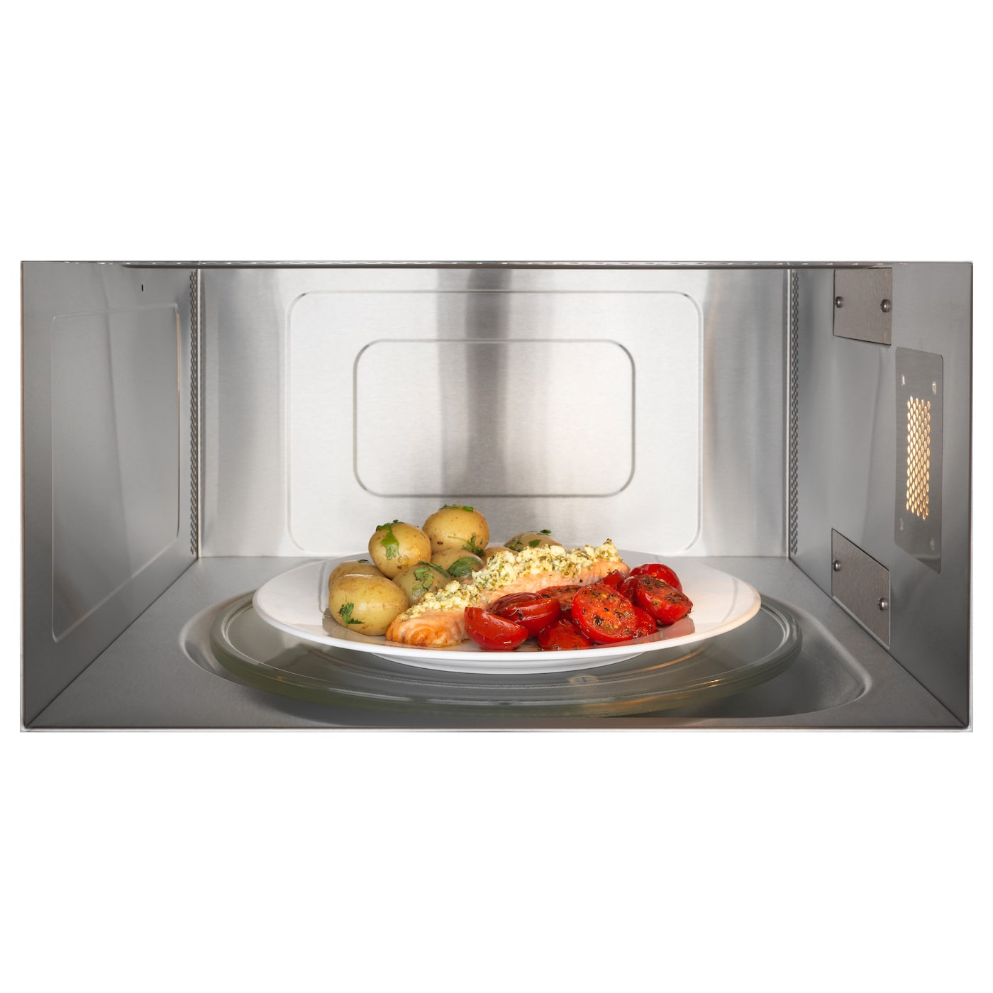 IKEA BEJUBLAD microwave oven 5 year guarantee. Read about the terms in the guarantee brochure.