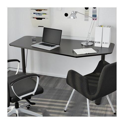 bekant 5 sided desk black brown black 160x80 cm ikea. Black Bedroom Furniture Sets. Home Design Ideas