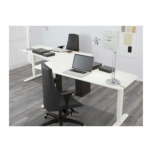 Bekant 5 Sided Desk Sit Stand White 160x80 Cm Ikea