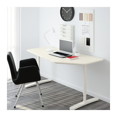 bekant 5 sided desk white 160x80 cm ikea. Black Bedroom Furniture Sets. Home Design Ideas