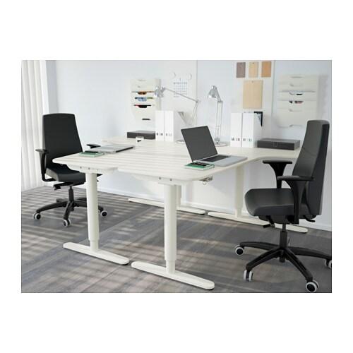 bekant corner desk left sit stand white 160x110 cm ikea. Black Bedroom Furniture Sets. Home Design Ideas