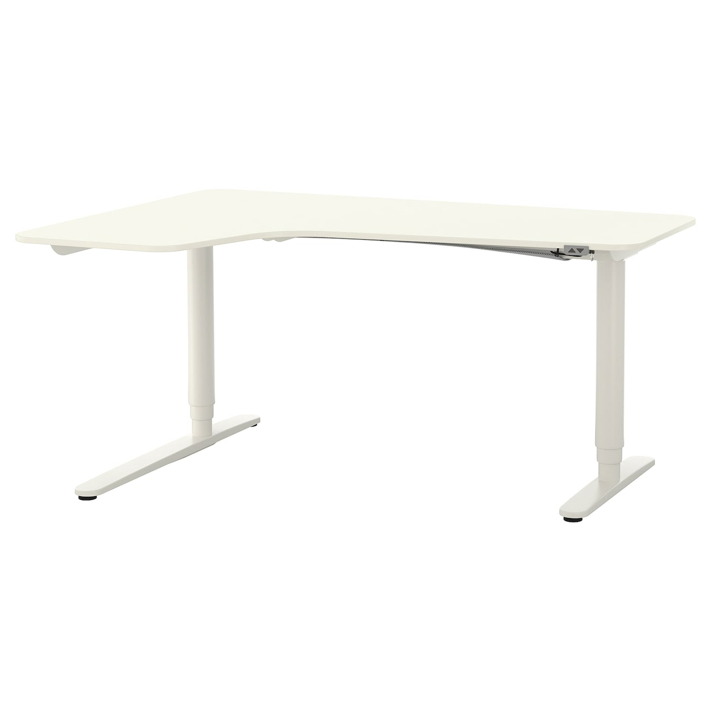 BEKANT Corner Desk Left Sit/stand White 160 X 110 Cm