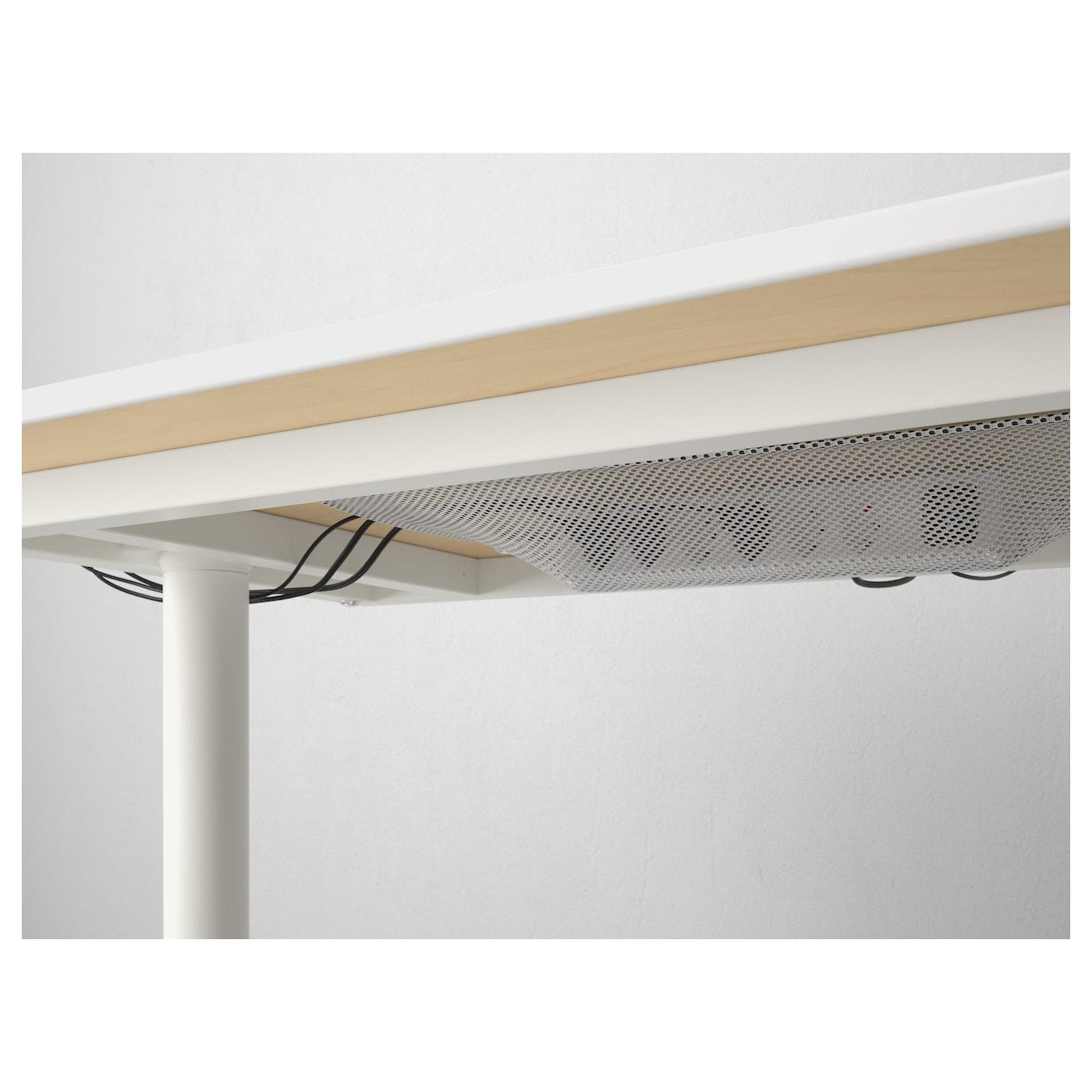 bekant corner desk right birch veneer white 160x110 cm ikea. Black Bedroom Furniture Sets. Home Design Ideas