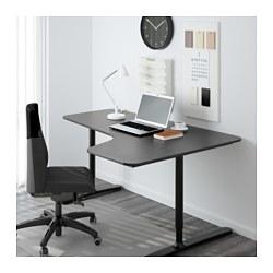 bekant corner desk right black brown black 160x110 cm ikea. Black Bedroom Furniture Sets. Home Design Ideas