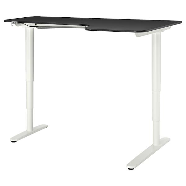 black, Corner desk right, 160x110 cm IKEA