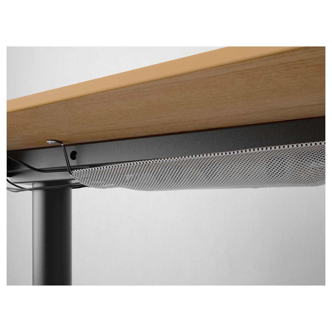 Bekant Corner Desk Right Sit Stand Oak Veneer Black