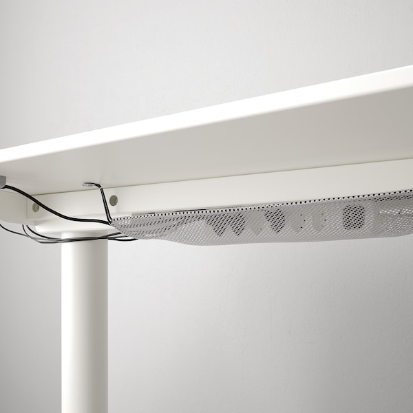BEKANT Corner desk right sit/stand, white, 160x110 cm
