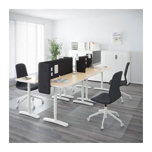 bekant desk combination birch veneer white 280x120 cm ikea