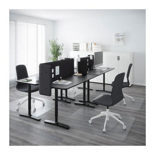 bekant desk combination black brown black 280x120 cm ikea. Black Bedroom Furniture Sets. Home Design Ideas