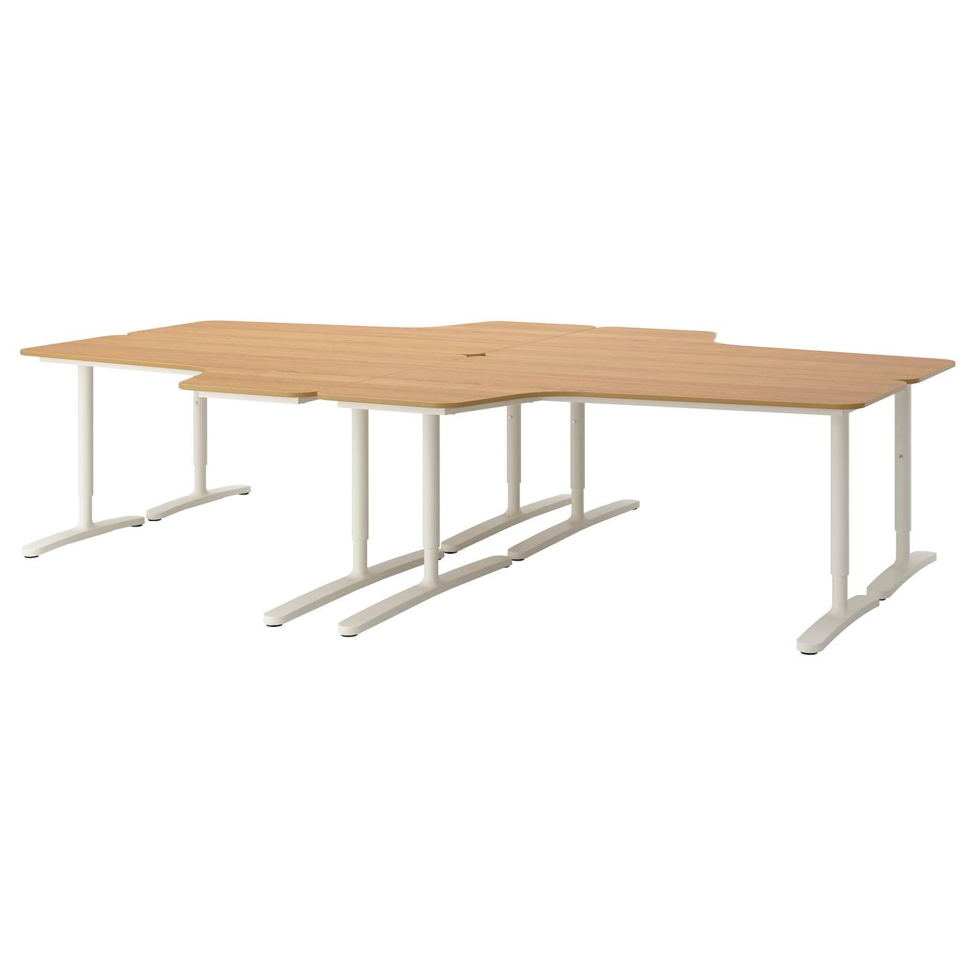 bekant desk combination oak veneer white 320 x 220 cm ikea. Black Bedroom Furniture Sets. Home Design Ideas