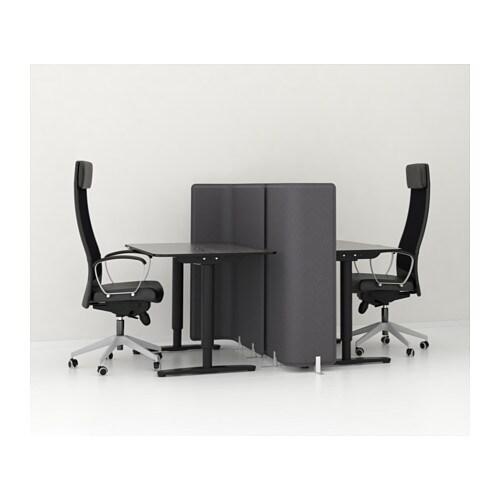 bekant desk sit stand black brown black 120x80 cm ikea. Black Bedroom Furniture Sets. Home Design Ideas