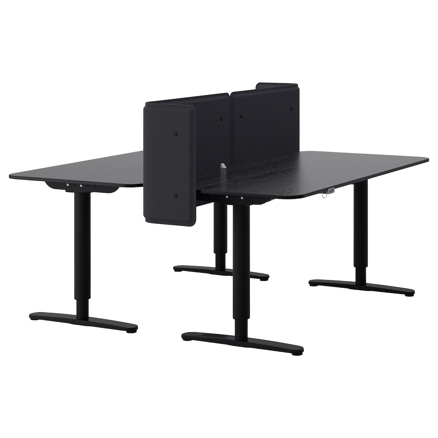 Office furniture office desks tables ikea for Ikea desk black