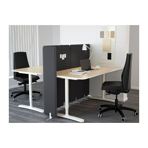 ikea bekant desk with screen the veneer surface is durable stain