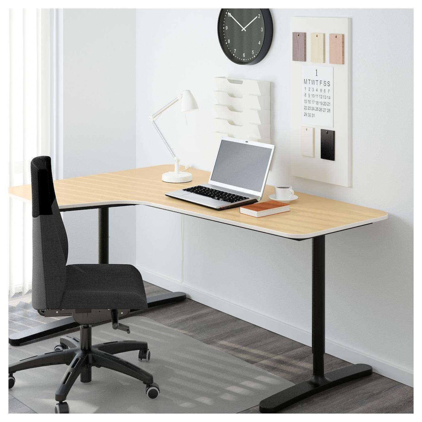 office corner table. IKEA BEKANT Left-hand Corner Table Top Office Y