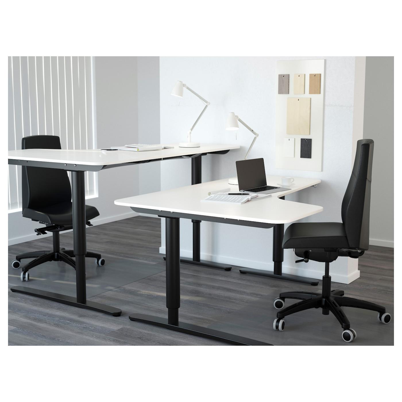 bekant left hand corner table top white 160 x 110 cm ikea. Black Bedroom Furniture Sets. Home Design Ideas