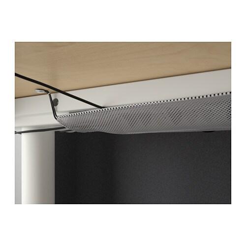 BEKANT Reception desk sit/stand Birch veneer/white 160x80 ...