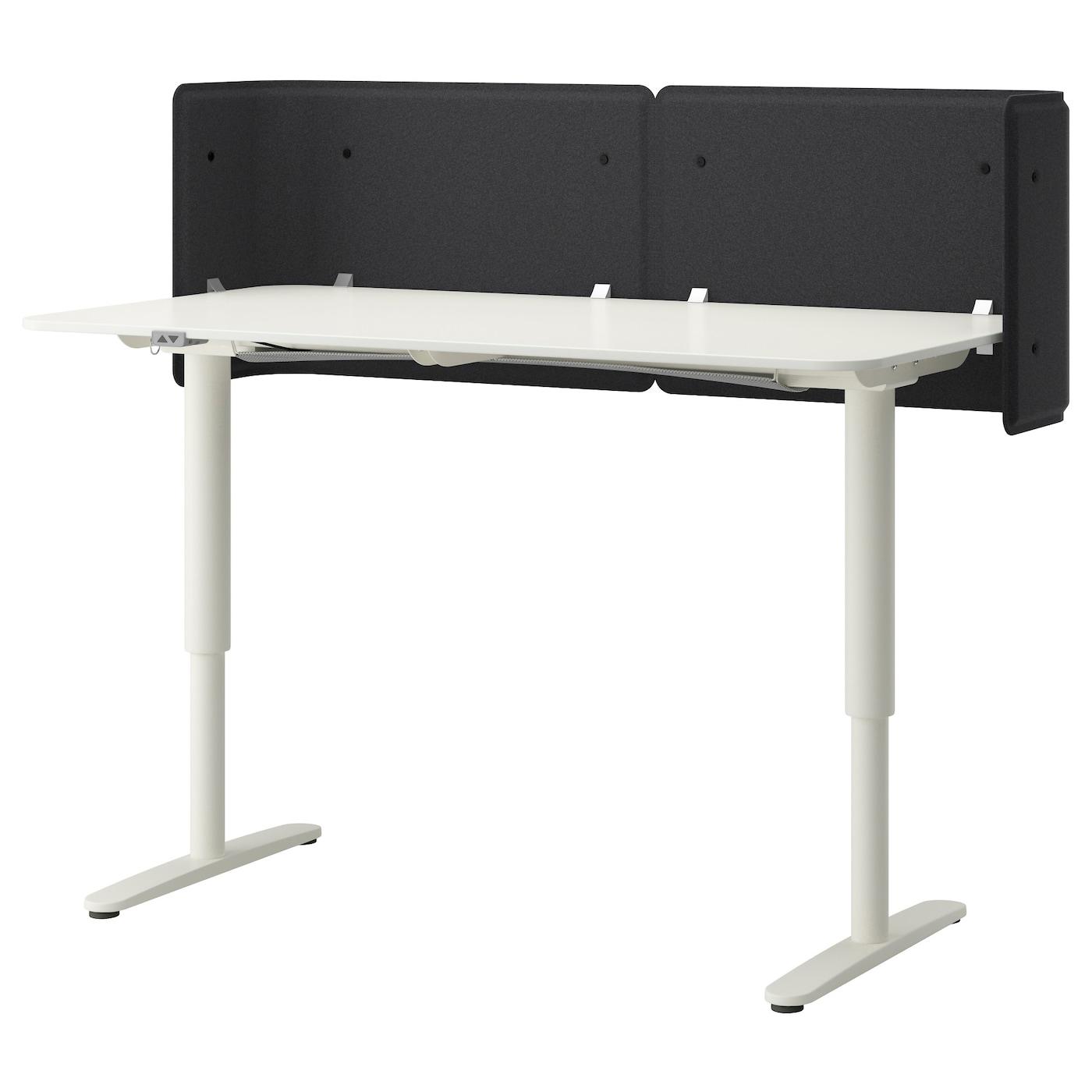 BEKANT Reception desk sitstand White 160x80 55