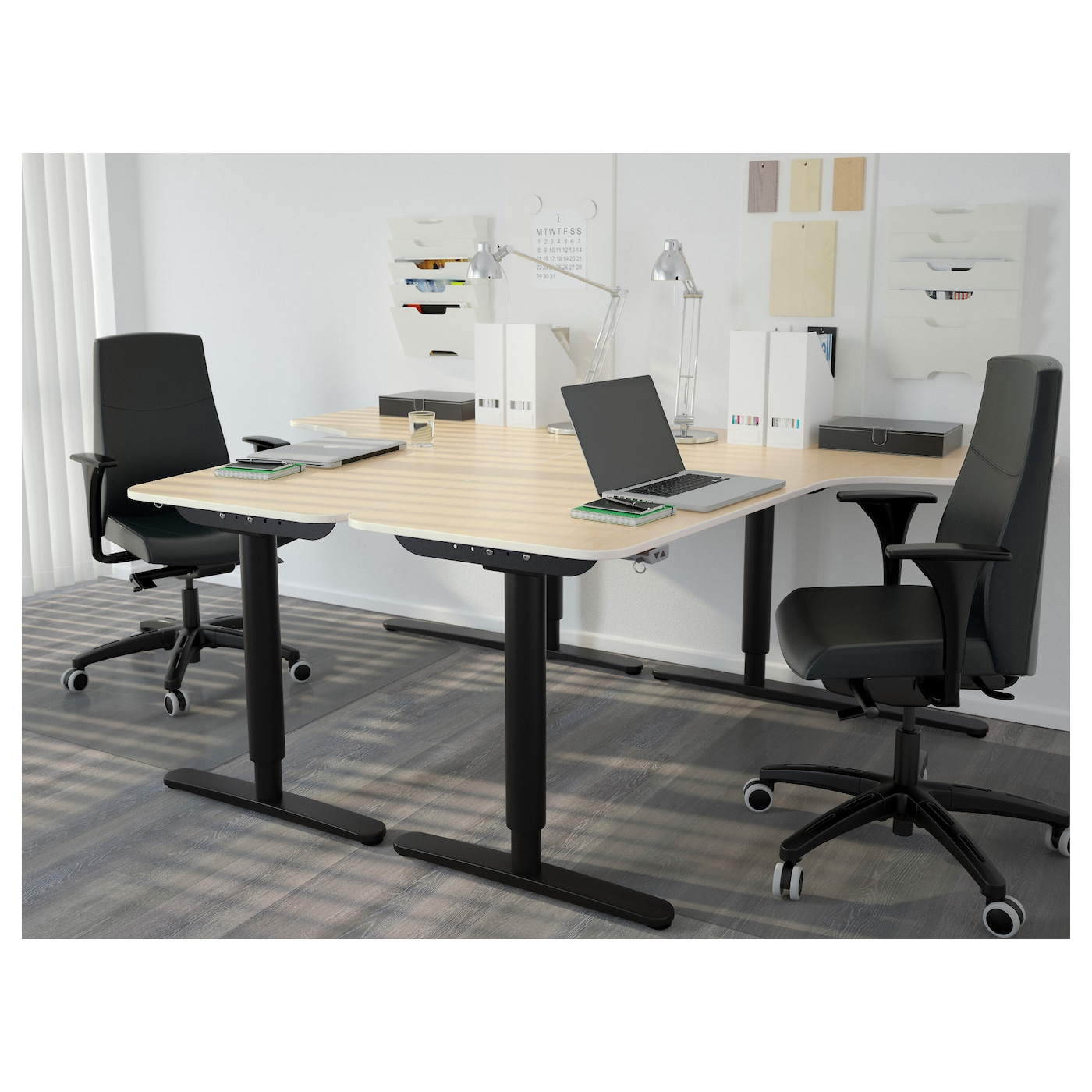 ikea deskleft furniture office collection veneerwhite images of desk in galant black top the with tops birch corner