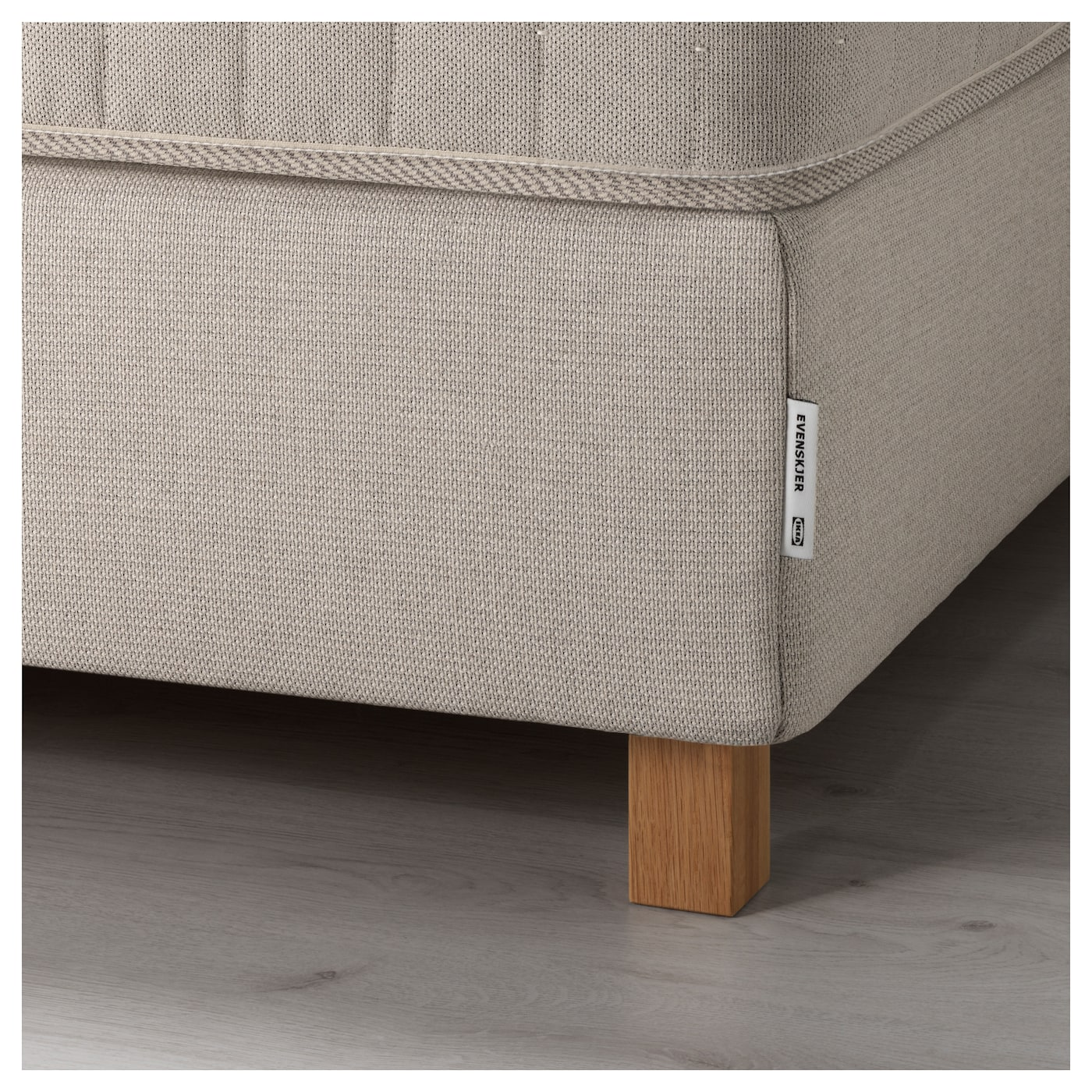 IKEA BEKKESTUA divan bed Pocket springs adjust to your body and keep your spine straight.