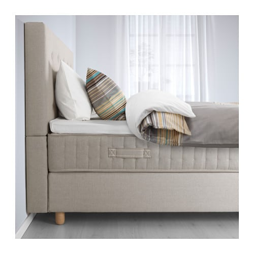 Bekkestua divan bed hesseng firm tromsdalen natural colour standard king ikea Ikea divan beds