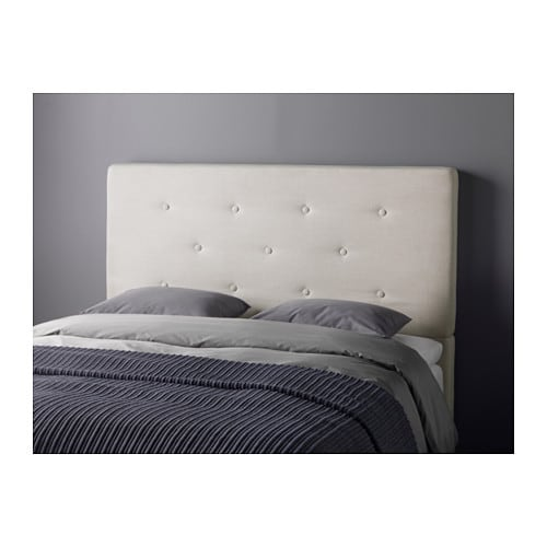 Bekkestua headboard natural colour standard king ikea - Tete de lit avec rangement ikea ...