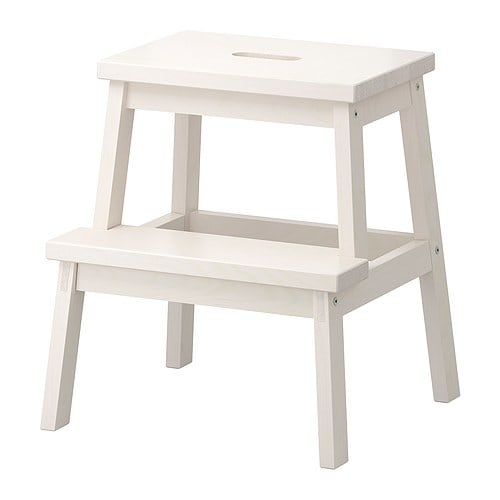 BEKVÄM Step stool IKEA Solid wood, a hardwearing natural material.  Hand-hole in the top step makes the step stool easy to move.