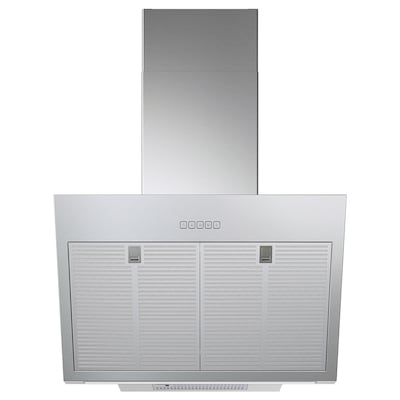 BEMÖTA Wall mounted extractor hood, stainless steel colour