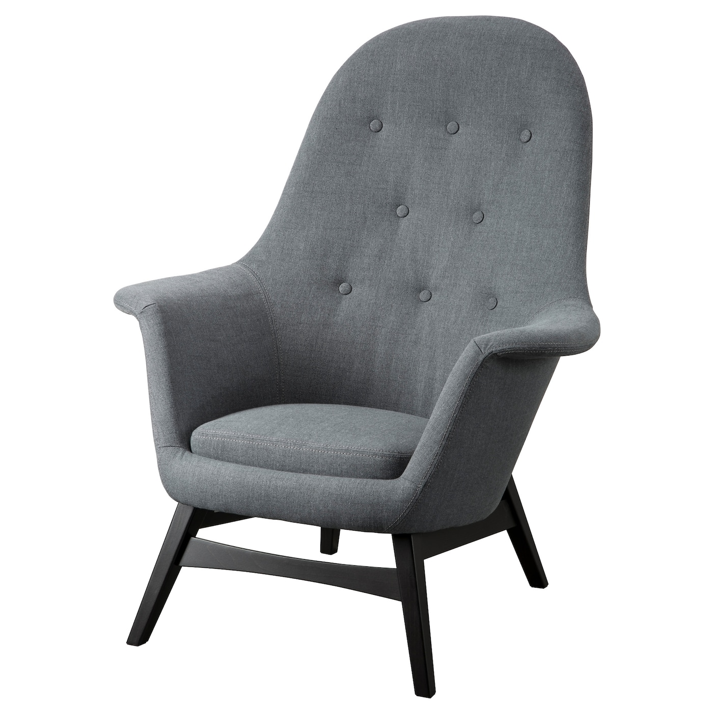 IKEA BENARP armchair The high back gives good support for your neck and head.