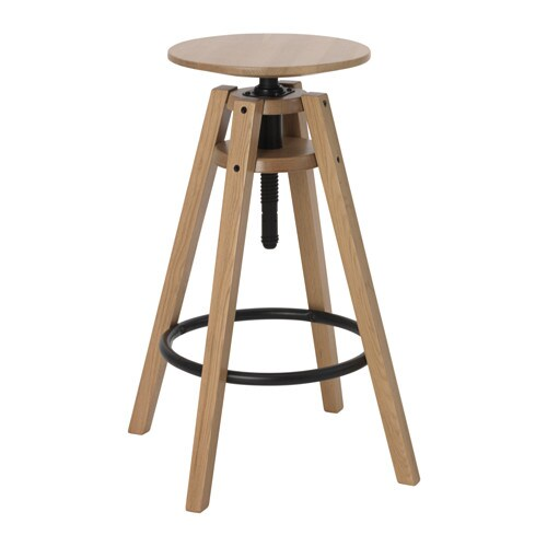 IKEA BENGTERIK bar stool Easy to adjust in heights with only one hand.