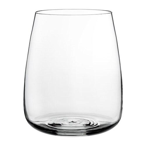 Berkna Vase Clear Glass 18 Cm Ikea