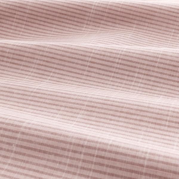BERGPALM Duvet cover and pillowcase, pink/stripe, 150x200/50x80 cm