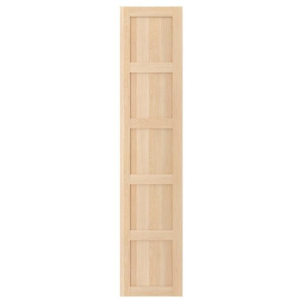 BERGSBO Door, white stained oak effect, 50x229 cm
