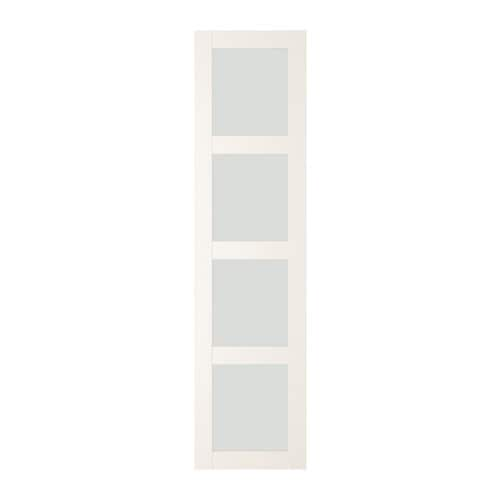 Bergsbo door with hinges frosted glasswhite 50x195 cm ikea ikea bergsbo door with hinges 10 year guarantee read about the terms in the guarantee planetlyrics Images