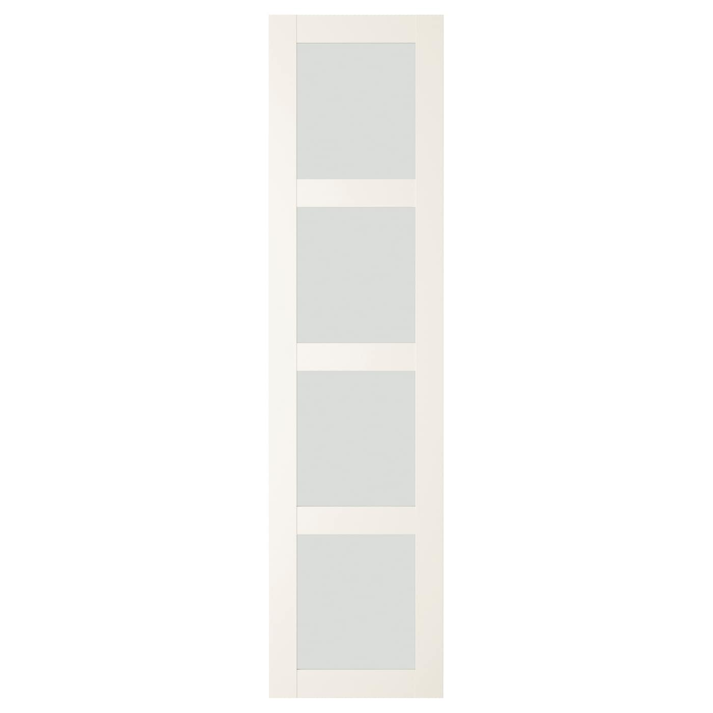Ikea pax bergsbo frostglas  BERGSBO Door with hinges Frosted glass/white 50x195 cm - IKEA
