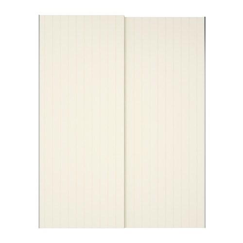 BERGSFJORD Pair Of Sliding Doors White 150x236 Cm IKEA
