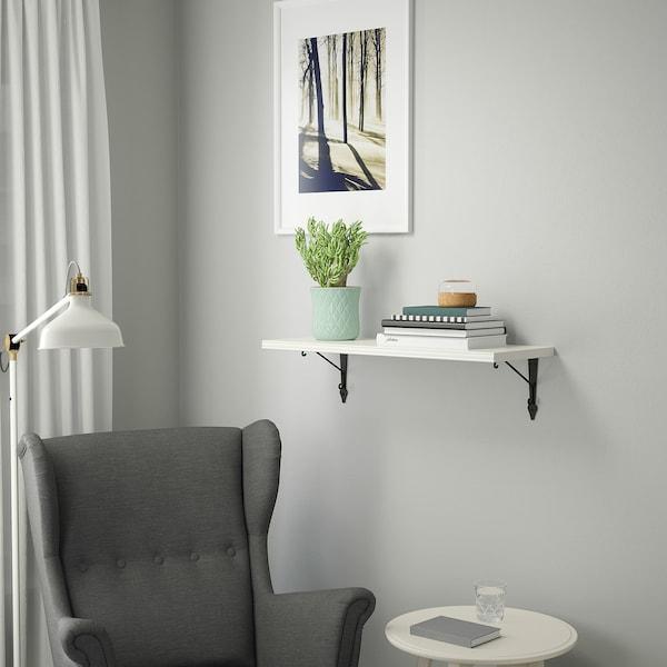 BERGSHULT / KROKSHULT Wall shelf, white/anthracite, 80x30 cm