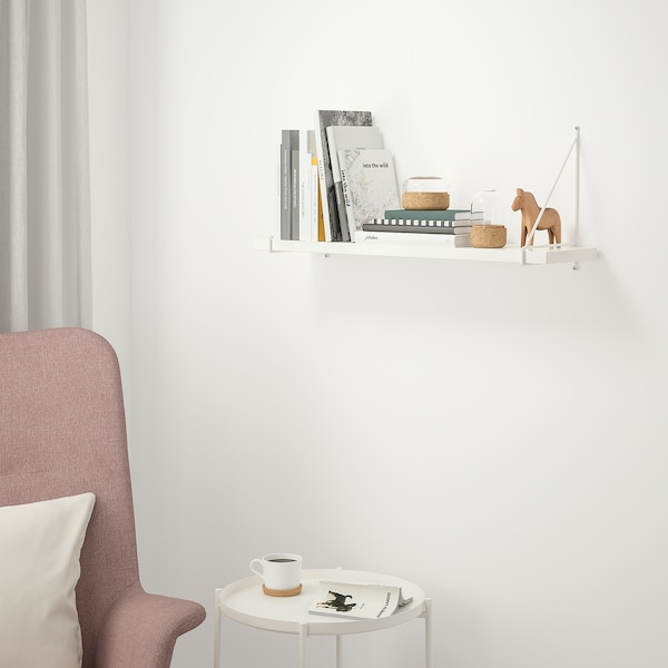 BERGSHULT / PERSHULT white, white, Wall shelf, 14x14 cm - IKEA