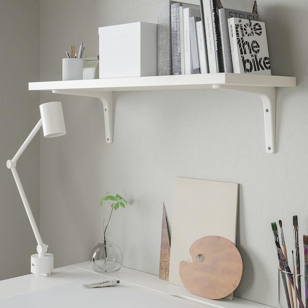 BERGSHULT / TOMTHULT Shelf with bracket, white, 80x30 cm