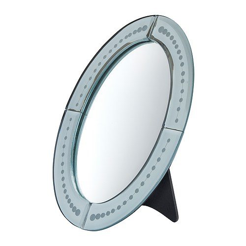 BERLEVÅG Table mirror IKEA Can be used in high humidity areas.