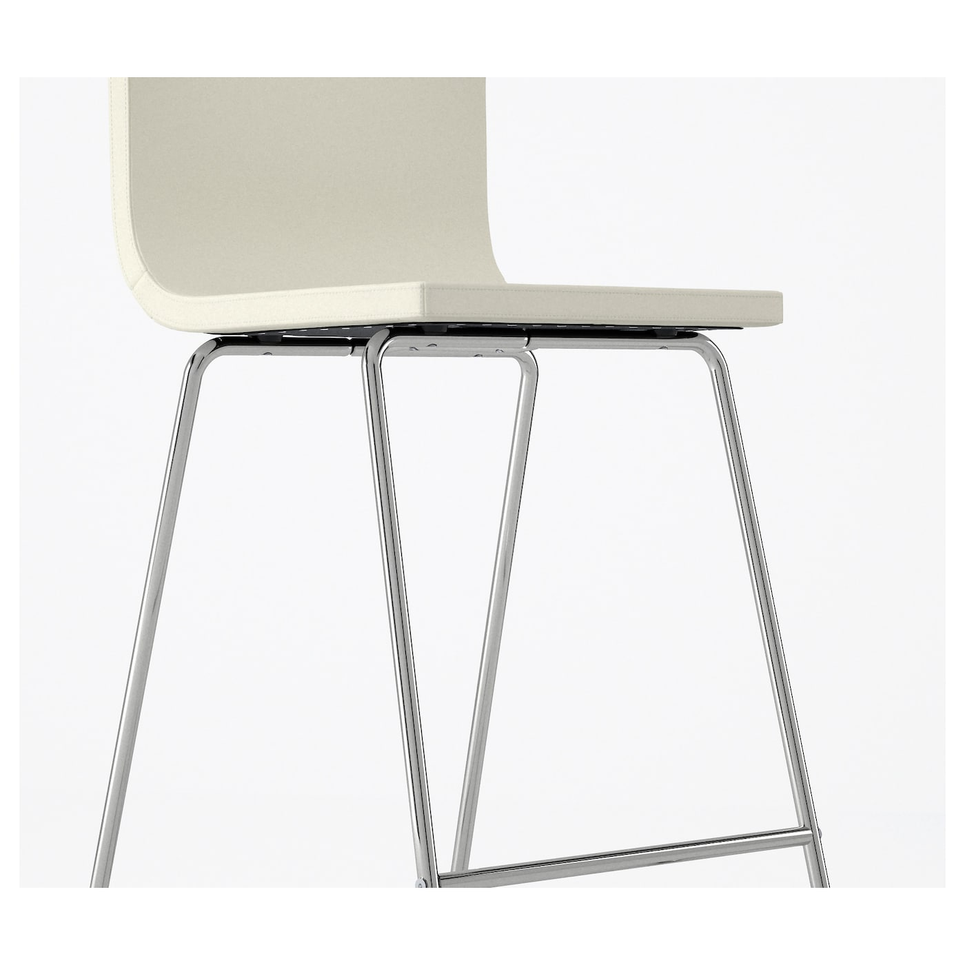 IKEA BERNHARD bar stool with backrest You sit comfortably thanks to the padded seat.