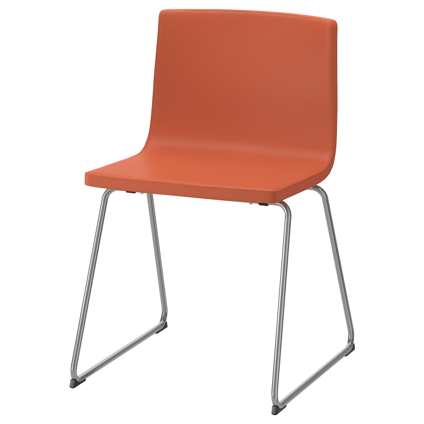 Bernhard chair chrome plated mjuk orange ikea - Fauteuil orange ikea ...