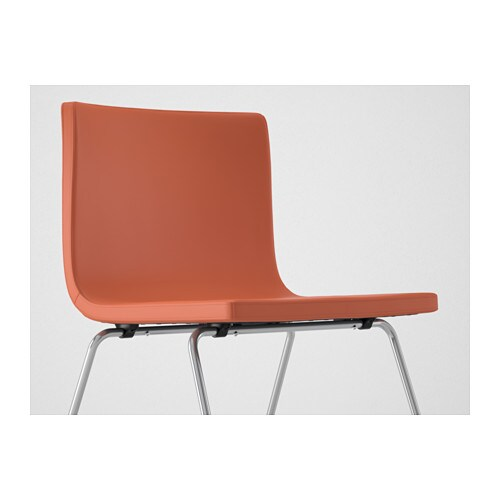 BERNHARD Chair Chromeplatedmjuk orange  IKEA -> Ikea Wandregal Orange