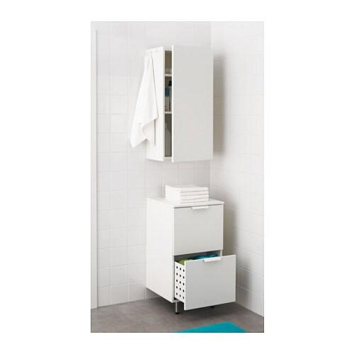 BERSEN Laundry cabinet White 44x83 cm - IKEA