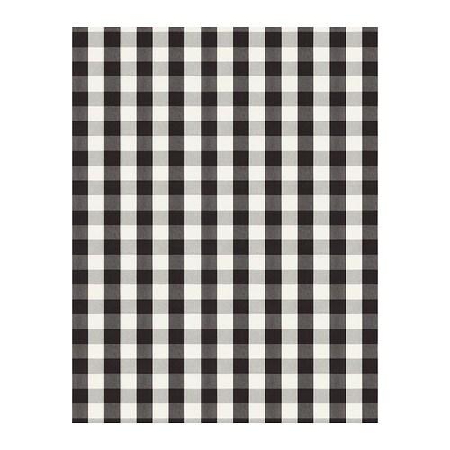 BERTA RUTA Fabric, big check, black